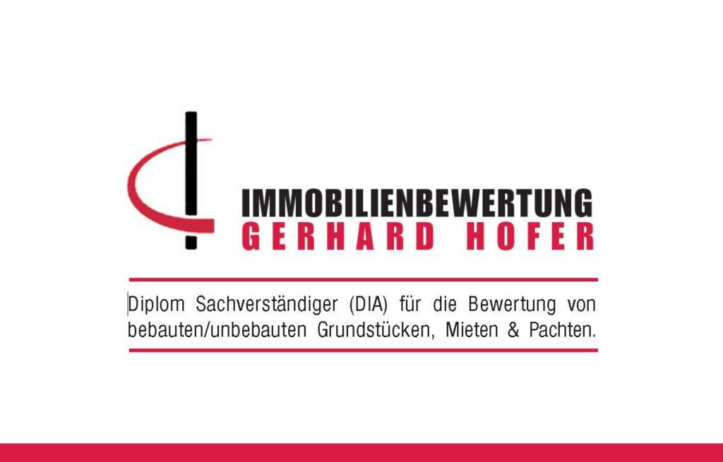 Gerhard Hofer, Lenzenweg 4, 84549 Engelsberg, Immobilienbewertung Hofer